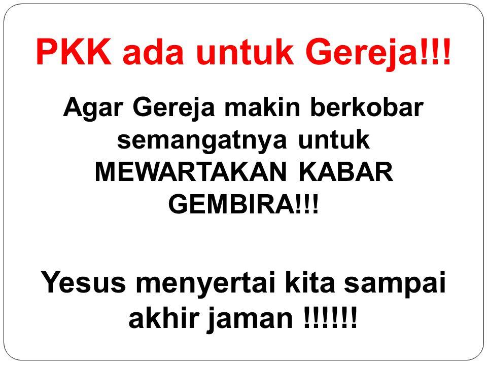 Yesus menyertai kita sampai akhir jaman !!!!!!
