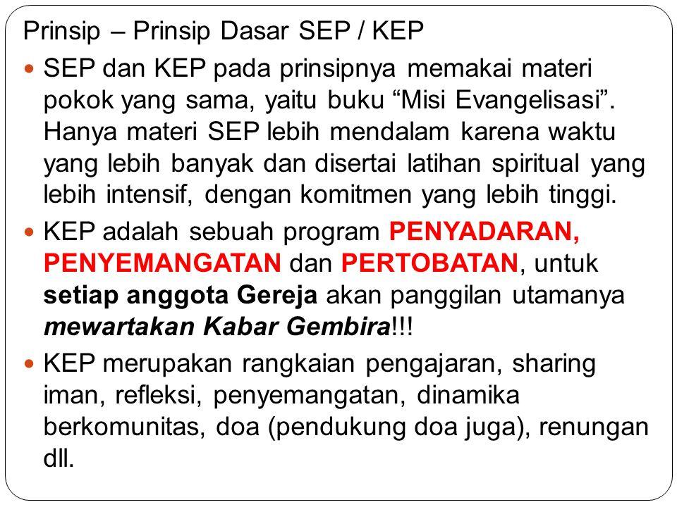 Prinsip – Prinsip Dasar SEP / KEP