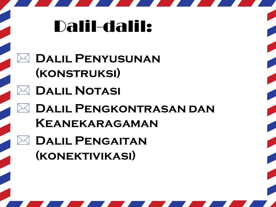 Dalil-dalil: Dalil Penyusunan (konstruksi) Dalil Notasi