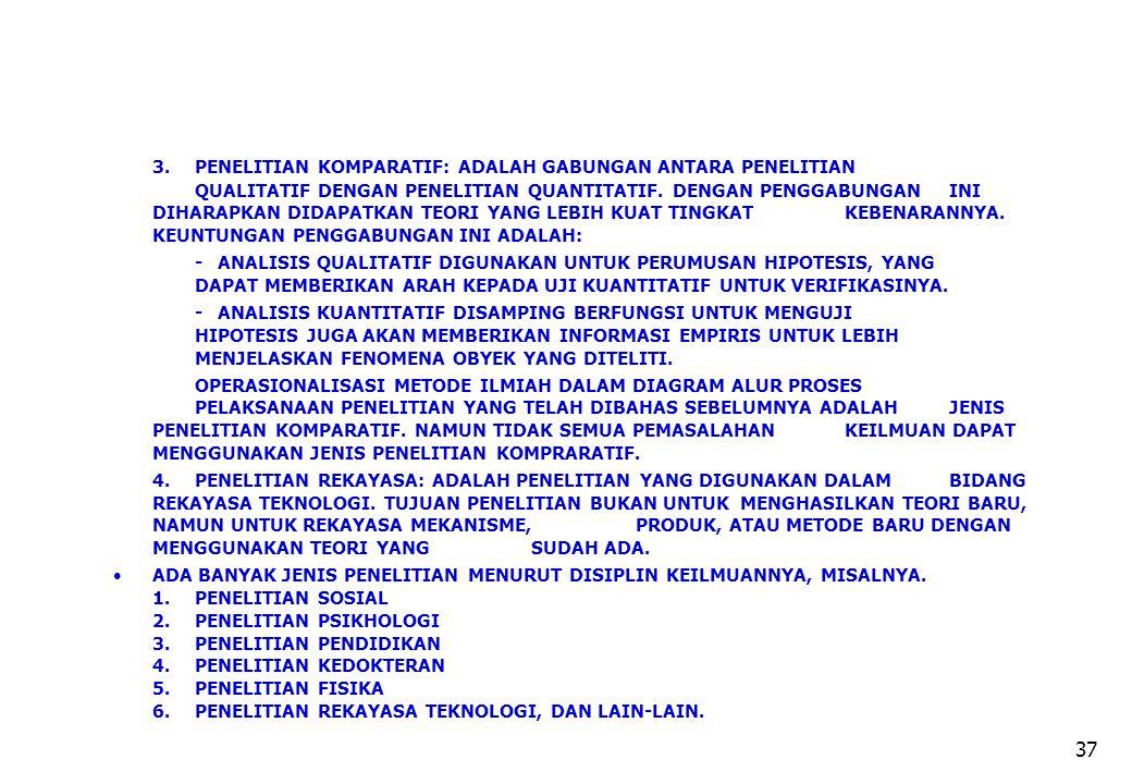 3. PENELITIAN KOMPARATIF: ADALAH GABUNGAN ANTARA PENELITIAN
