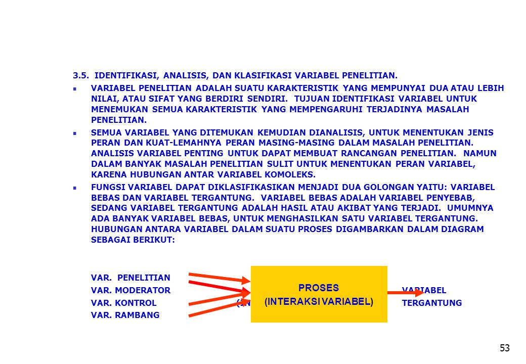 PROSES (INTERAKSI VARIABEL)