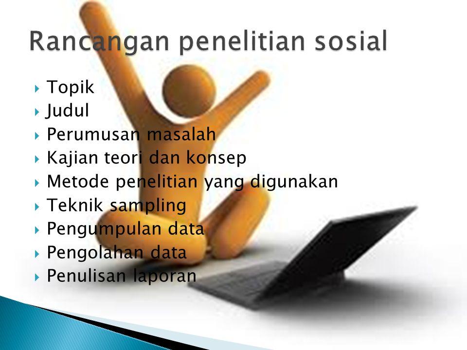 Rancangan penelitian sosial