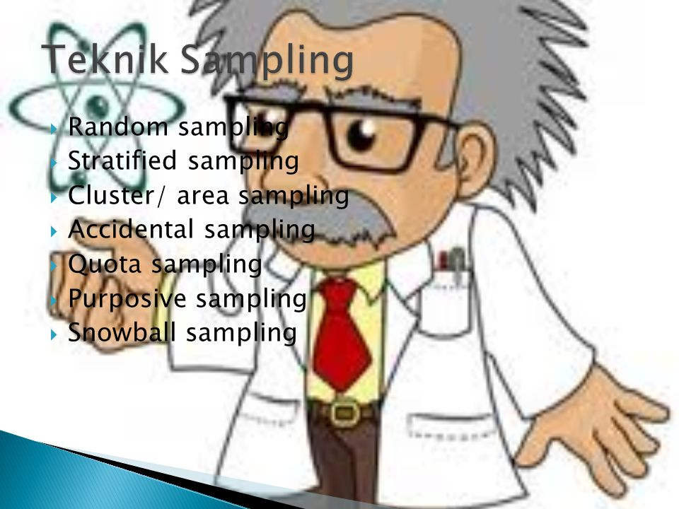 Teknik Sampling Random sampling Stratified sampling