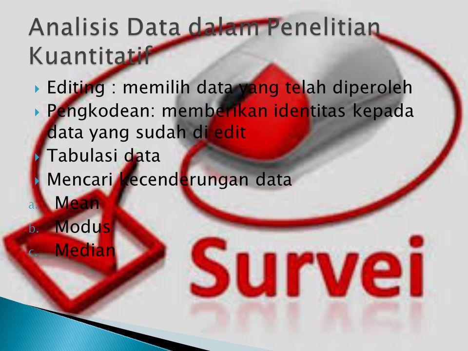 Analisis Data dalam Penelitian Kuantitatif
