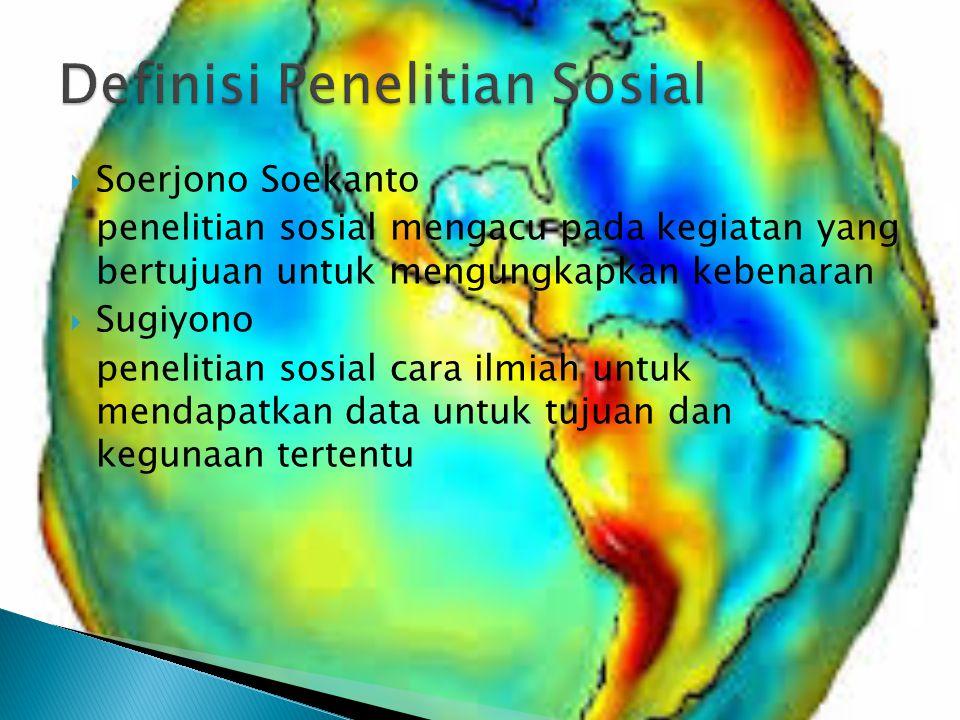 Definisi Penelitian Sosial