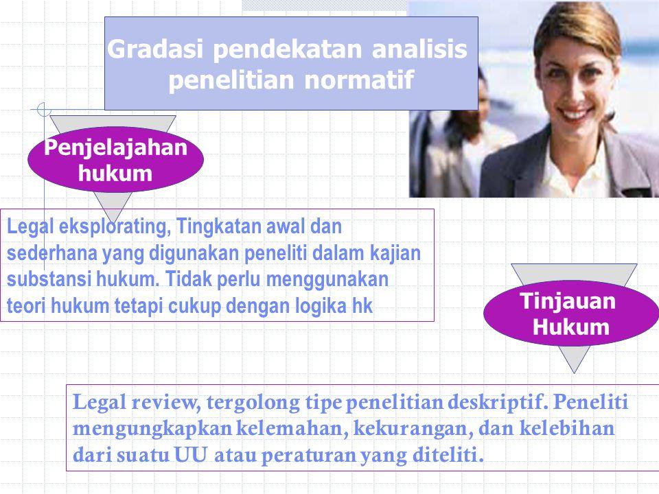 Gradasi pendekatan analisis