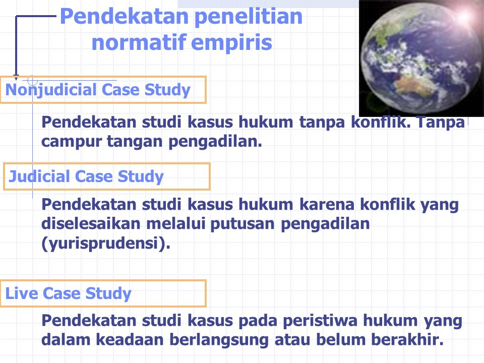 Pendekatan penelitian normatif empiris