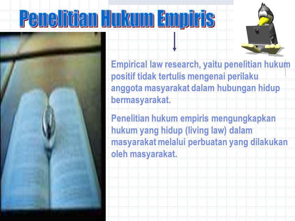 Penelitian Hukum Empiris