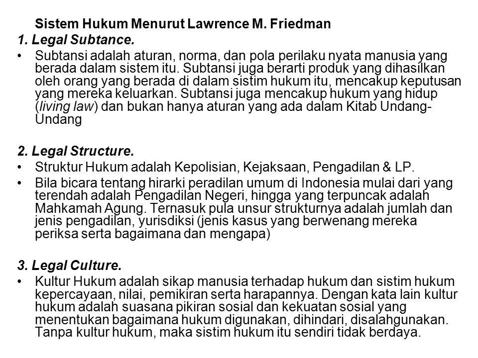 Sistem Hukum Menurut Lawrence M. Friedman