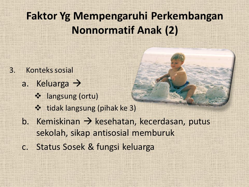 Faktor Yg Mempengaruhi Perkembangan Nonnormatif Anak (2)