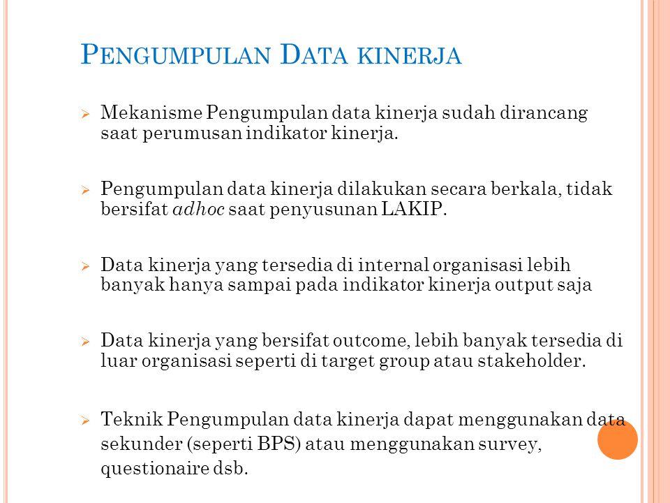 Pengumpulan Data kinerja