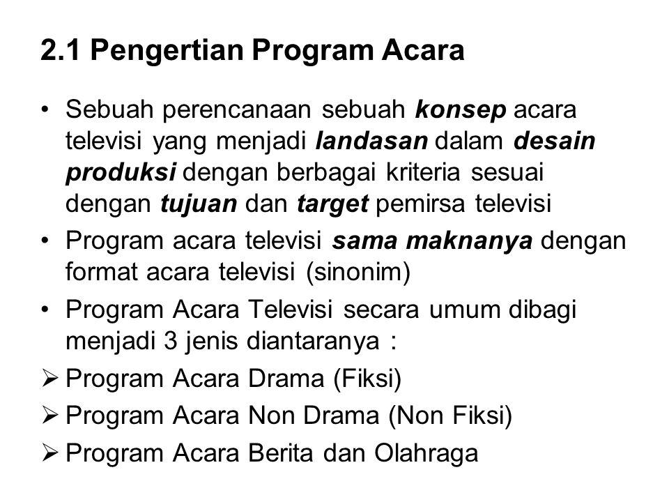 2.1 Pengertian Program Acara