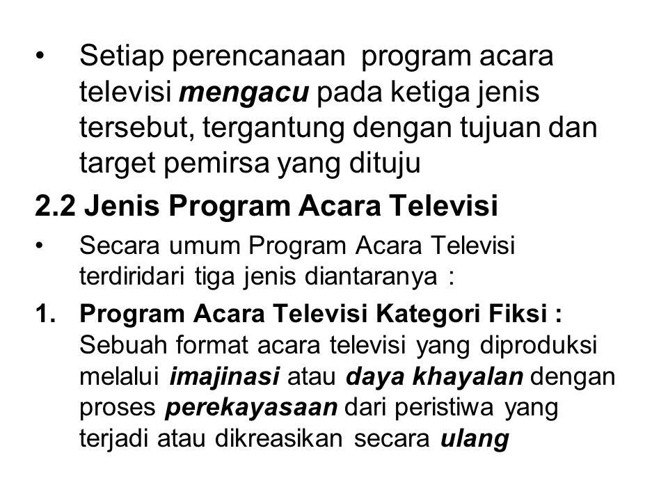 2.2 Jenis Program Acara Televisi