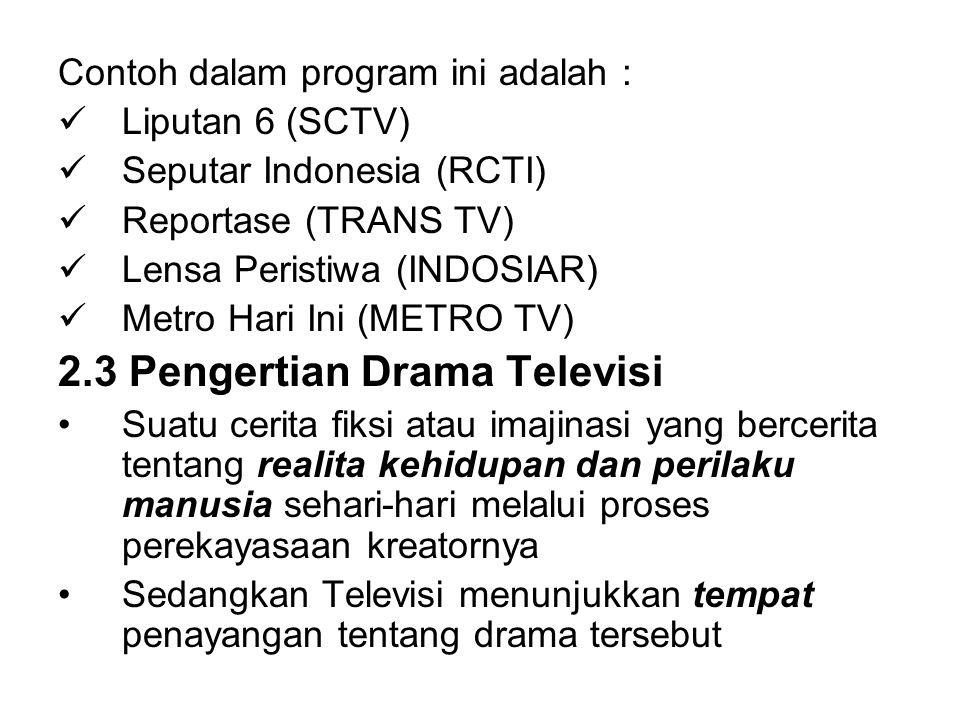 2.3 Pengertian Drama Televisi