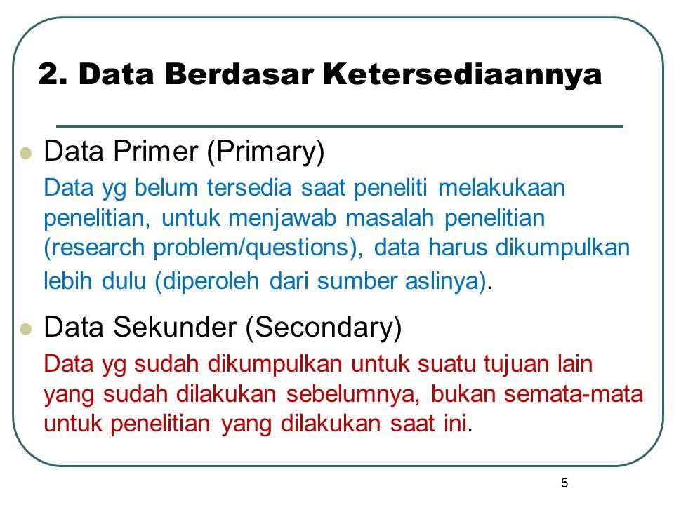 2. Data Berdasar Ketersediaannya