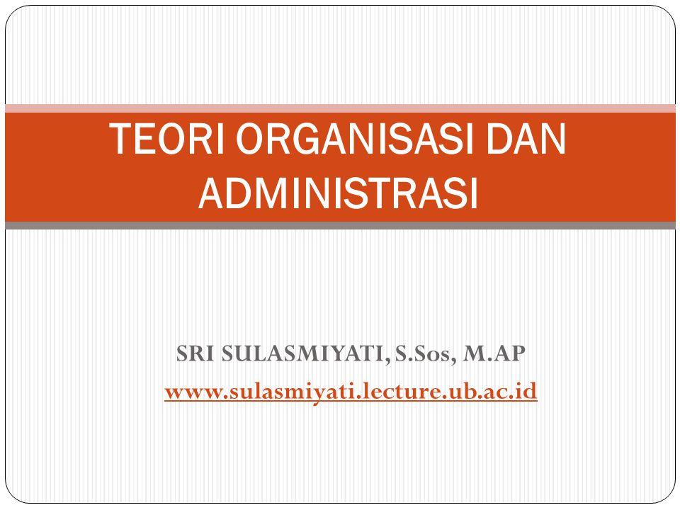 SRI SULASMIYATI, S.Sos, M.AP www.sulasmiyati.lecture.ub.ac.id