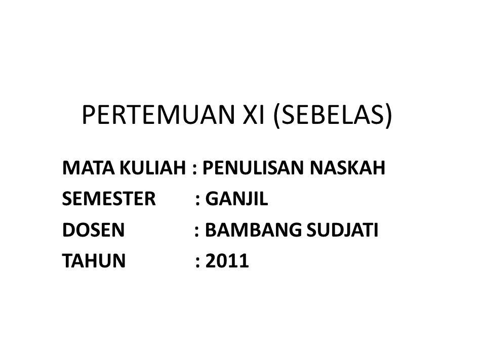 PERTEMUAN XI (SEBELAS)