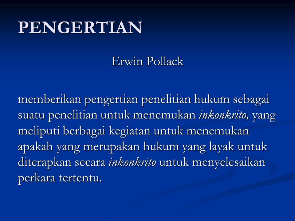 PENGERTIAN Erwin Pollack
