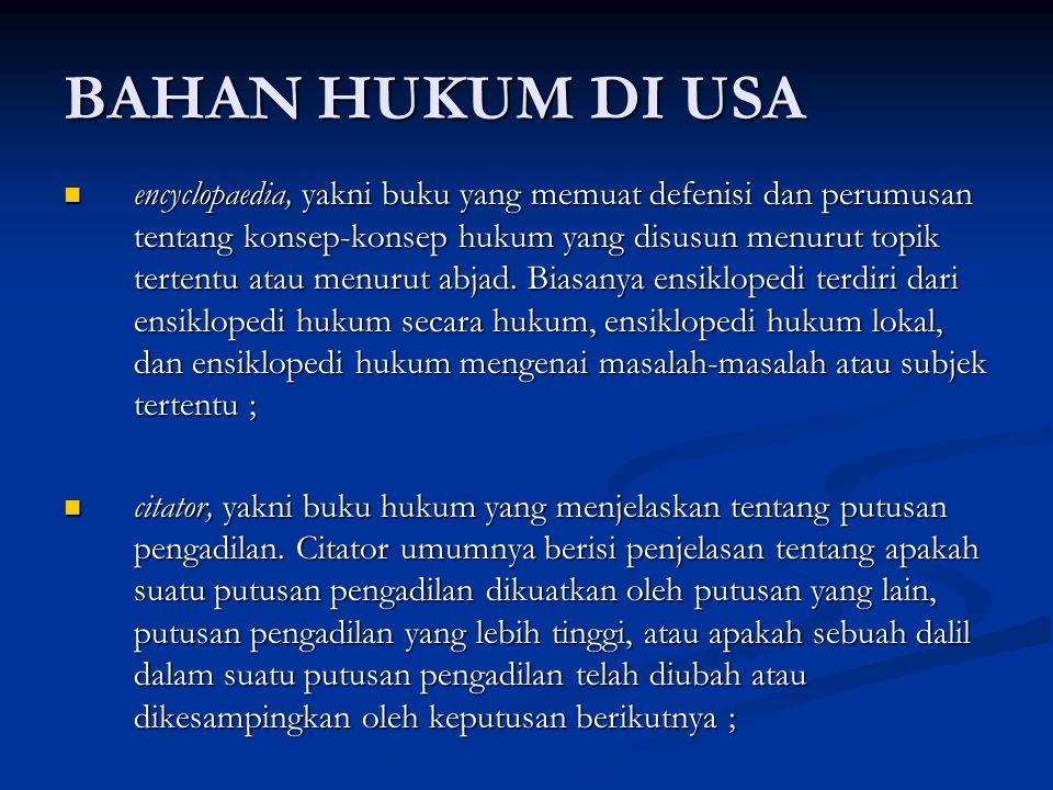 BAHAN HUKUM DI USA