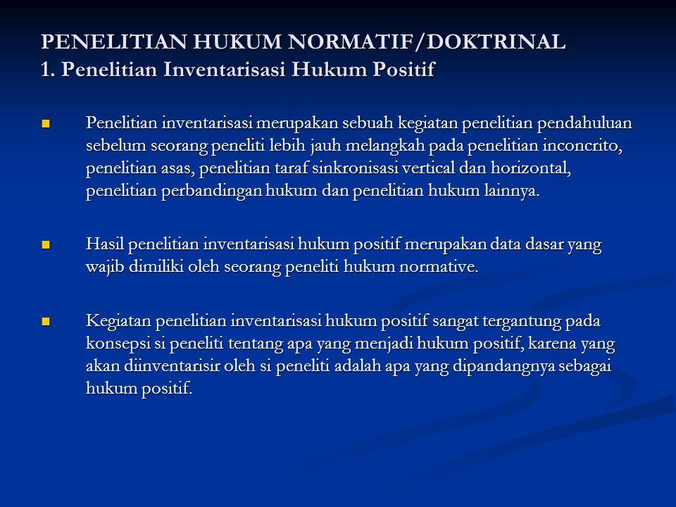 PENELITIAN HUKUM NORMATIF/DOKTRINAL 1