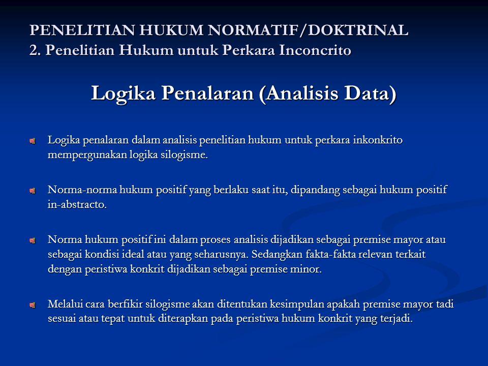 Logika Penalaran (Analisis Data)