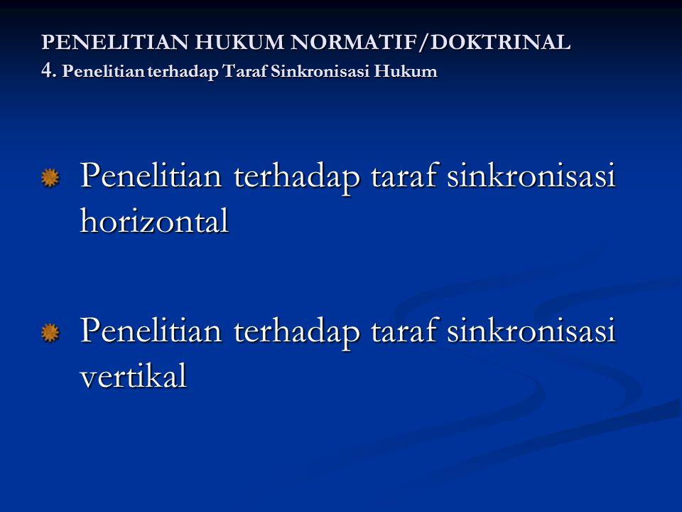 Penelitian terhadap taraf sinkronisasi horizontal