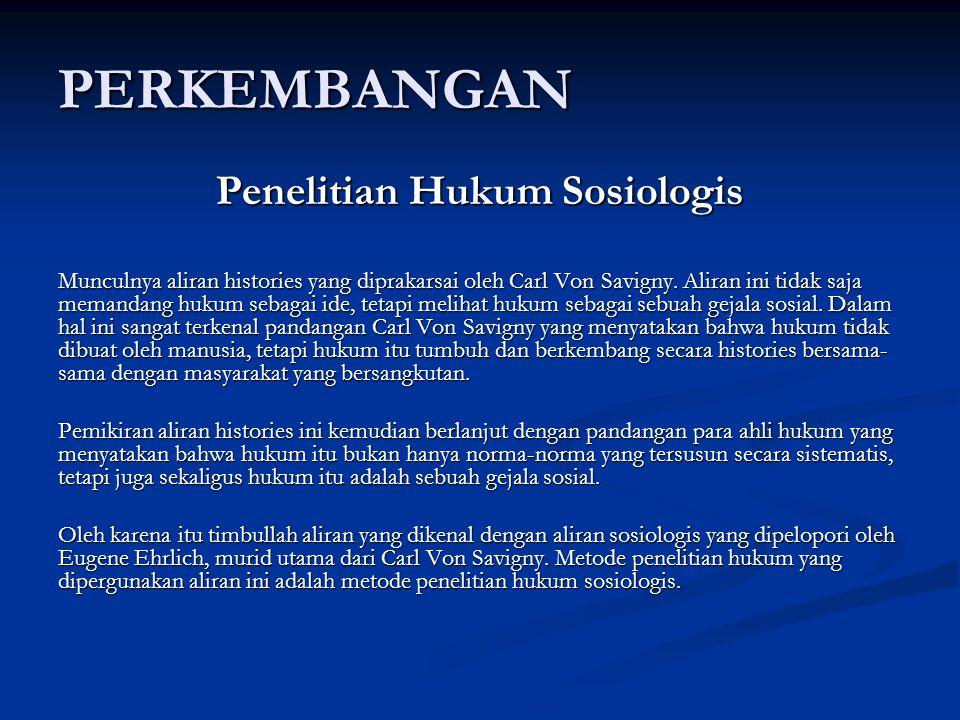 Penelitian Hukum Sosiologis