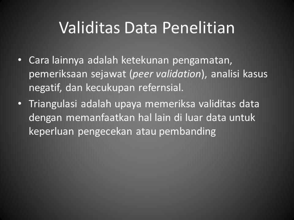 Validitas Data Penelitian