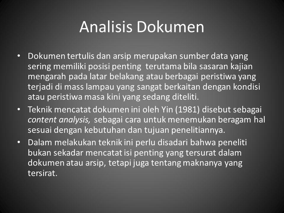 Analisis Dokumen