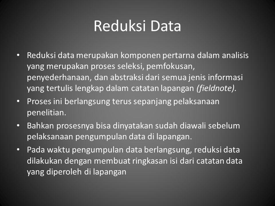 Reduksi Data