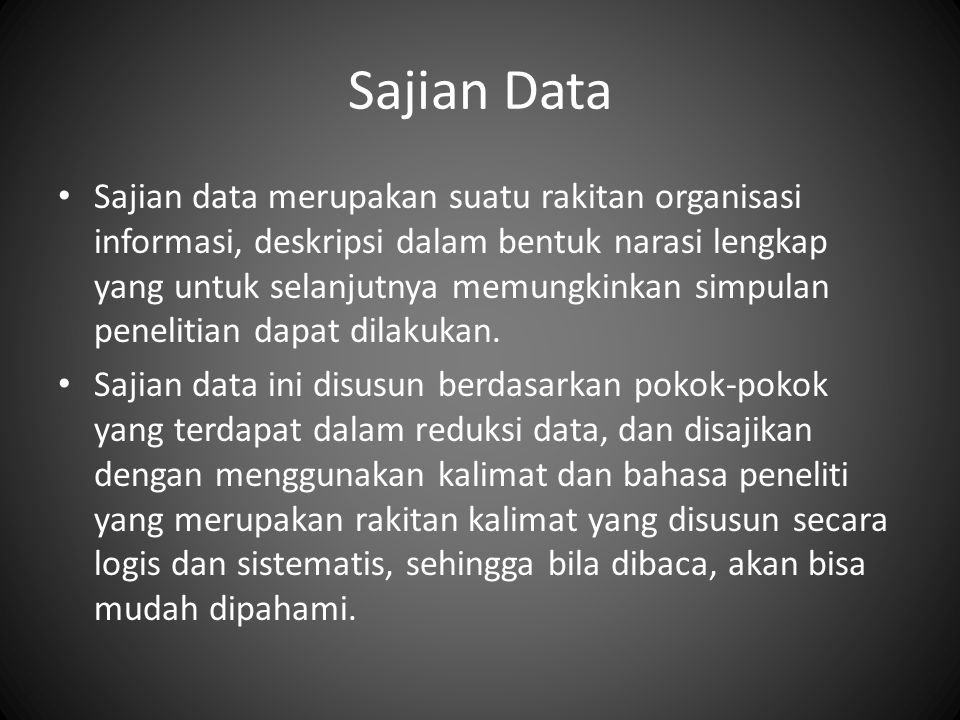 Sajian Data