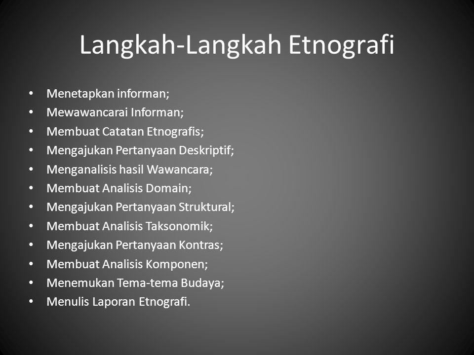 Langkah-Langkah Etnografi