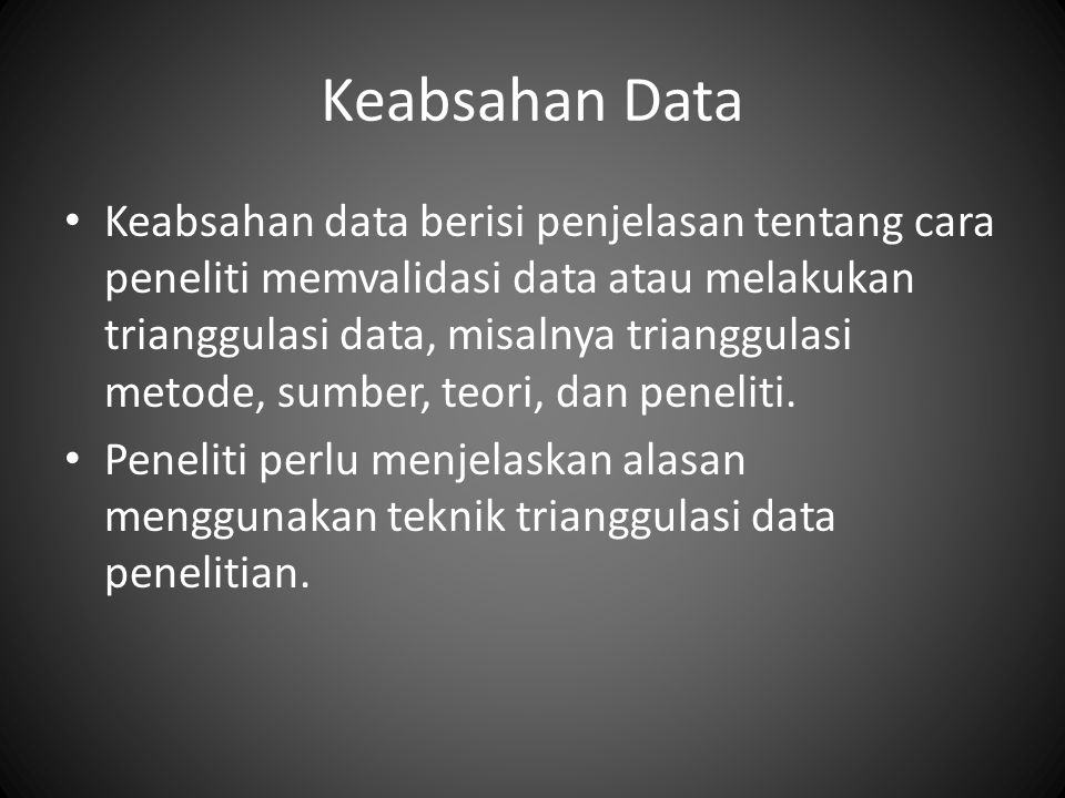 Keabsahan Data
