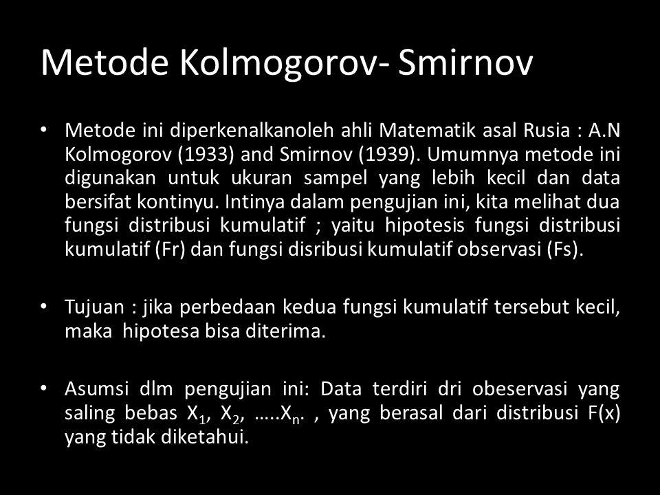 Metode Kolmogorov- Smirnov