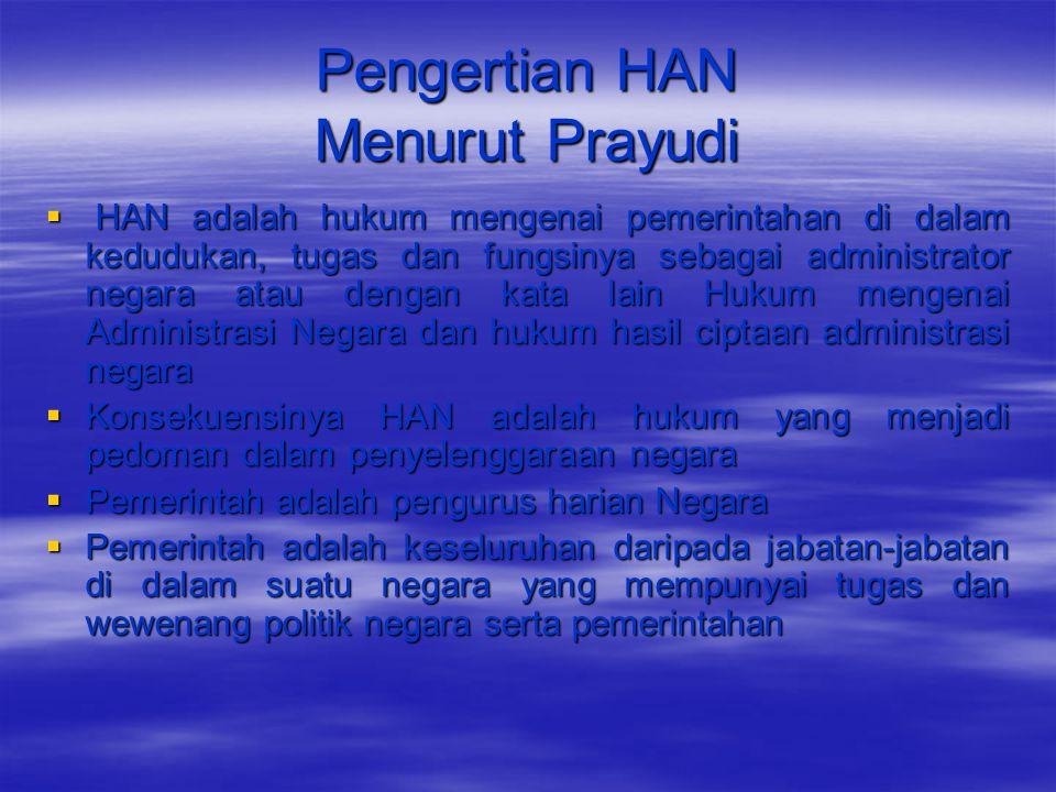 Pengertian HAN Menurut Prayudi