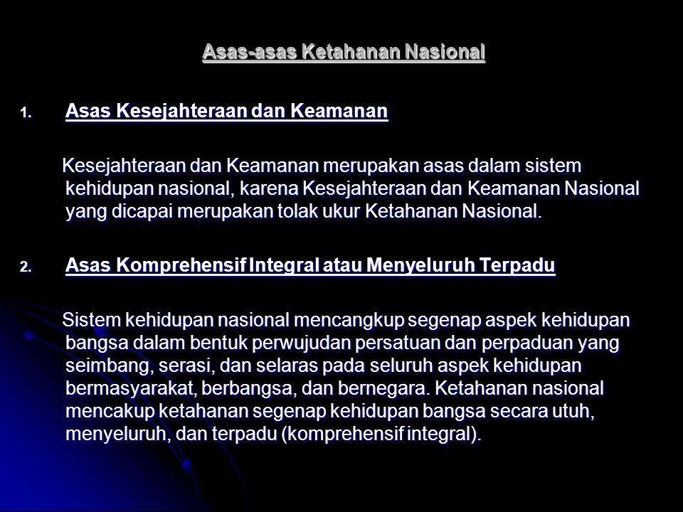 Asas-asas Ketahanan Nasional