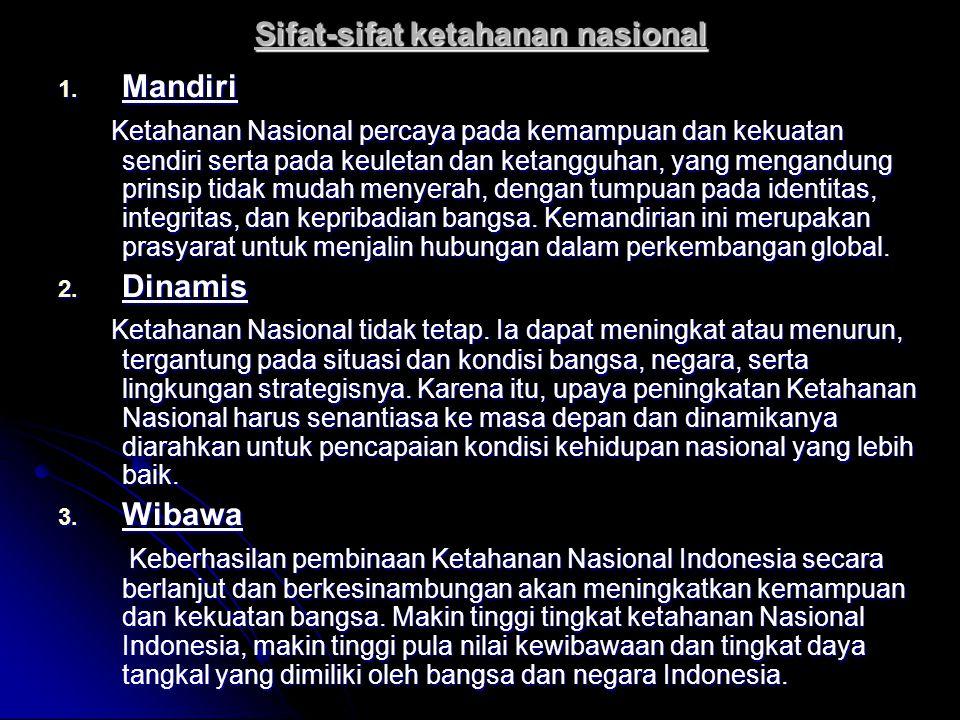 Sifat-sifat ketahanan nasional