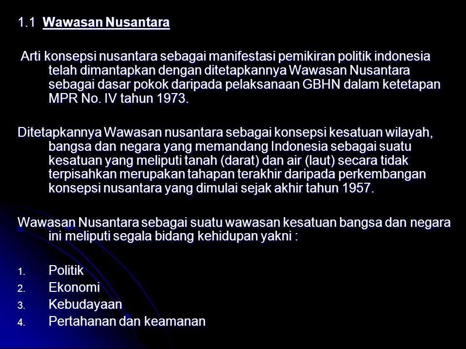1.1 Wawasan Nusantara