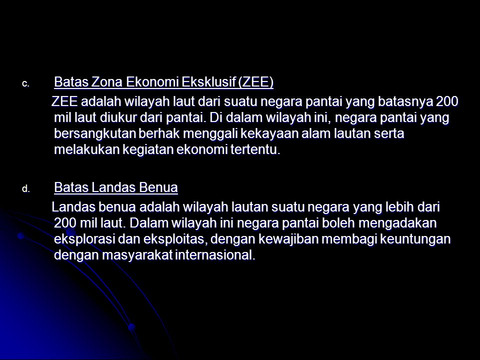 Batas Zona Ekonomi Eksklusif (ZEE)
