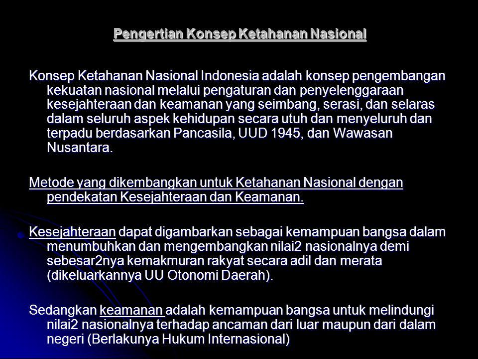 Pengertian Konsep Ketahanan Nasional