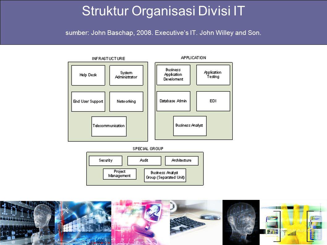 Struktur Organisasi Divisi IT sumber: John Baschap, 2008