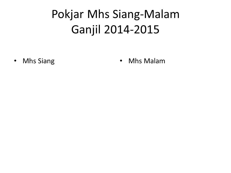 Pokjar Mhs Siang-Malam Ganjil 2014-2015