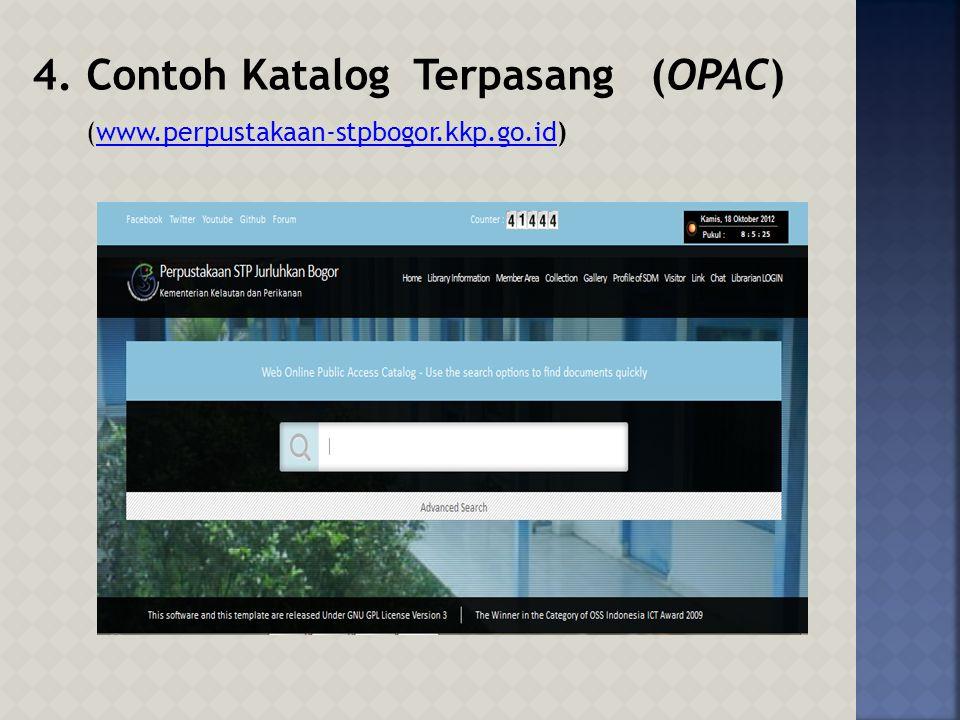 Contoh Katalog Terpasang (OPAC)