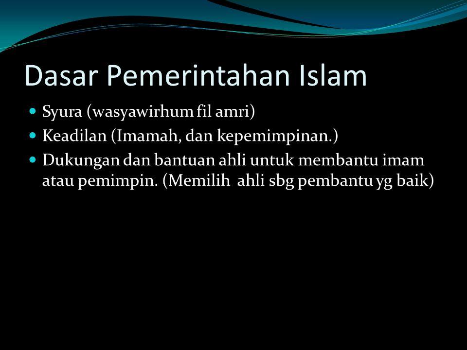 Dasar Pemerintahan Islam