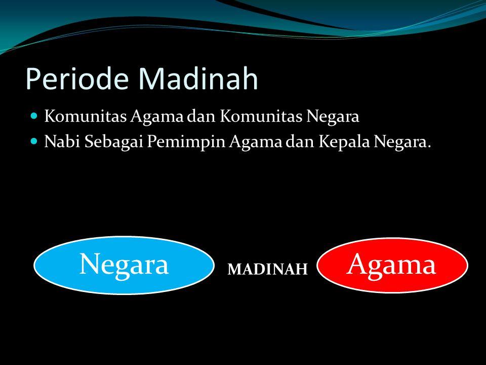 Periode Madinah Komunitas Agama dan Komunitas Negara