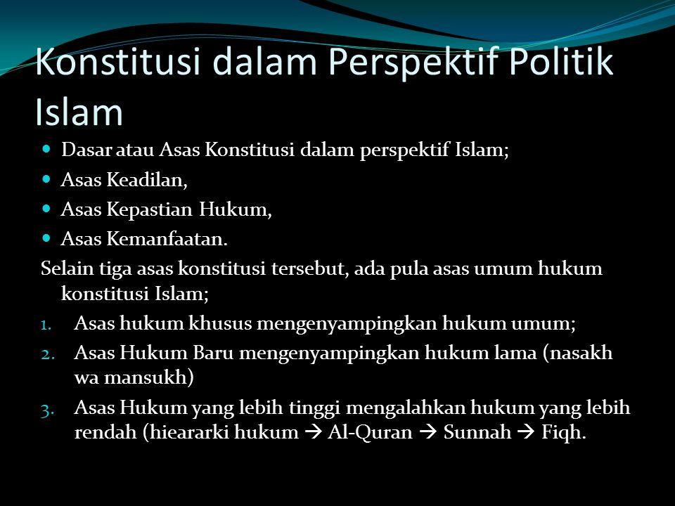 Konstitusi dalam Perspektif Politik Islam