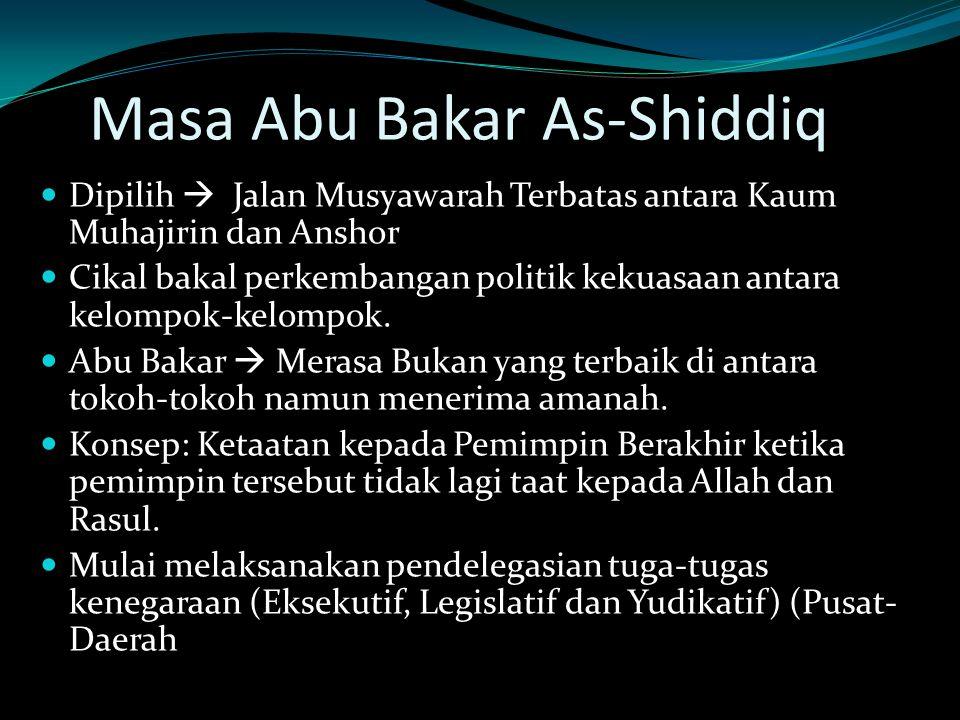 Masa Abu Bakar As-Shiddiq