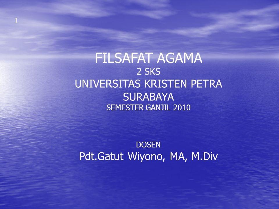 FILSAFAT AGAMA UNIVERSITAS KRISTEN PETRA SURABAYA