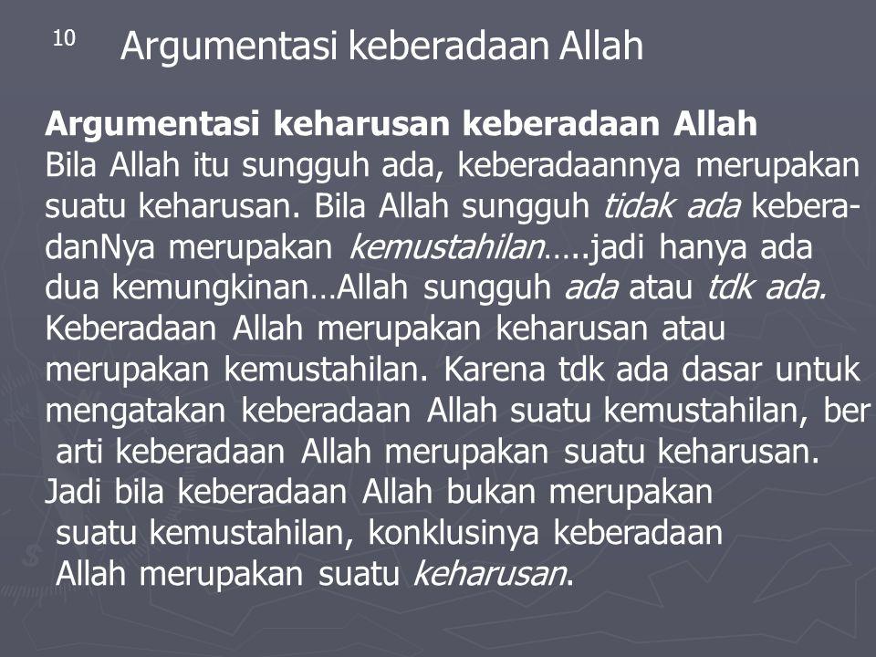 Argumentasi keberadaan Allah