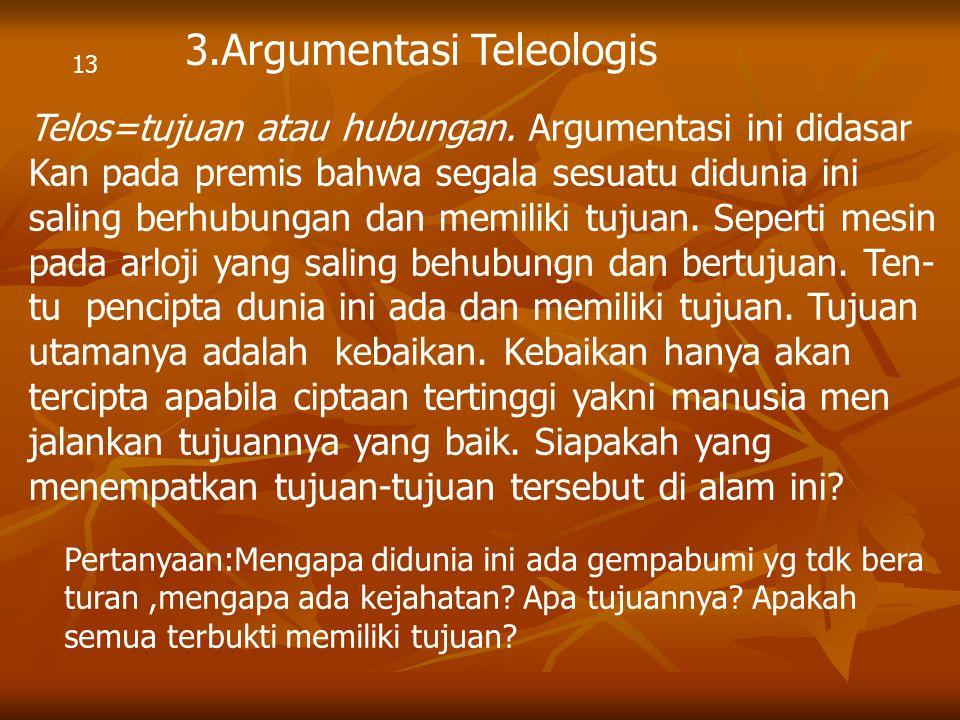 3.Argumentasi Teleologis